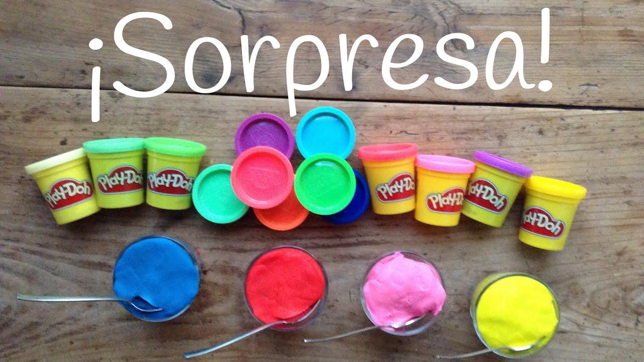 JUGUETES sorpresa en Yogures | Play Doh SORPRESA en español