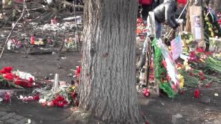 Киев, ул.Институтская / Небесная Сотня (2014.02.26). Следы от пуль.