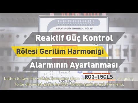 RG3 - 15 CLS Reaktif Güç Kontrol Rölesi - Gerilim Harmoniği Alarmının Ayarlanması