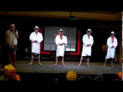 Four Old Gentleman Perform a Unique 'Cooking' Show