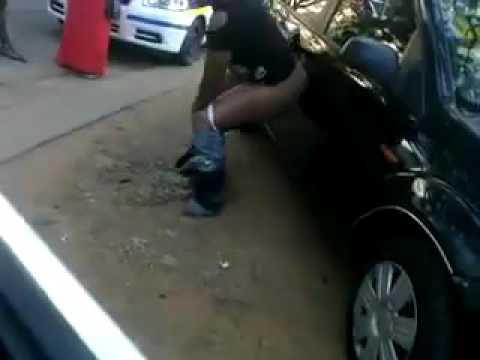 Drunk girl strip and urinate in public