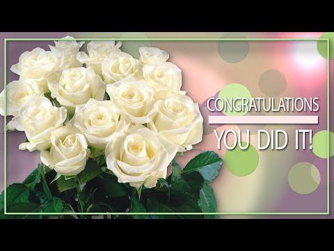💐Congratulations! You did it!💐