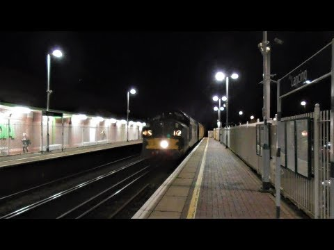 Colas Rail 37057 & 37116 storm through Lancing with Network …