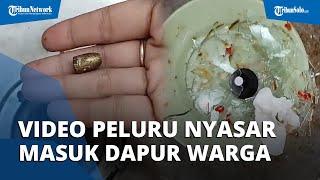 VIRAL Video Detik-detik Peluru Nyasar Masuk ke Dapur Rumah Warga di Bandung, Kuali Sampai Bolong