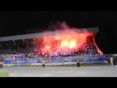 Oprawa kibiców Stomilu Olsztyn w meczu ze Śląskiem Wrocław