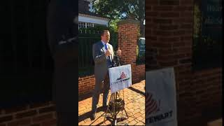 Corey Stewart: Ed Gillespie Making Mistake to Distance Himself from Trump