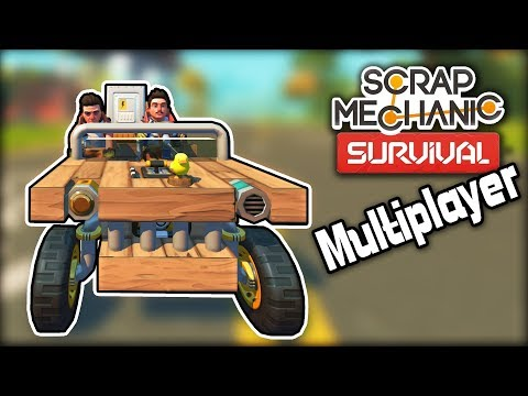 I Went on a Ride Along to Try Out Multiplayer! (Scrap Mechanic Survival)