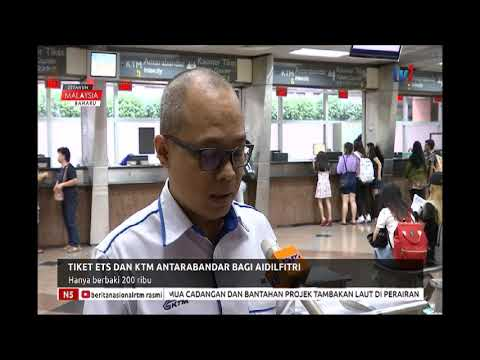 N5 - TIKET ETS DAN KTM ANTARABANDAR BAGI AIDILFITRI - HANYA BERBAKI 200 RIBU [20 MEI 2019]