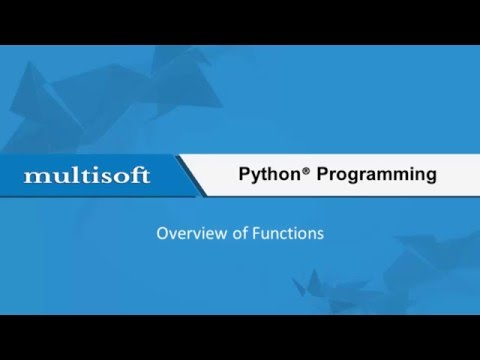 Functions in Python Advanced Training