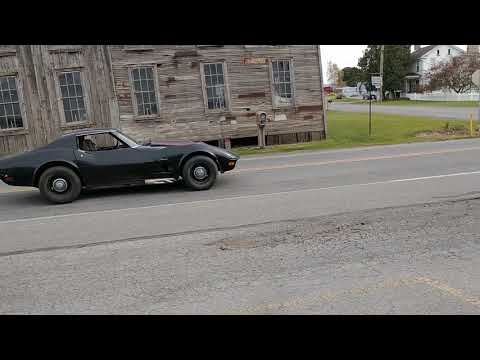 1970 Black LT1 Corvette TTop Manual Transmission Video