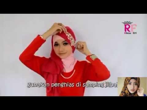 Video Tutorial Hijab Paris Segi Empat Dua Warna Special Ramadhan & Lebaran 2016