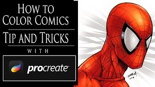 How to Color Comic Art with Procreate - Tips and Tricks