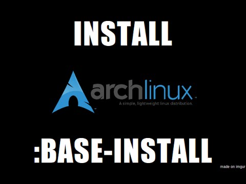Arch linux install video - Linux Distro Community Forum