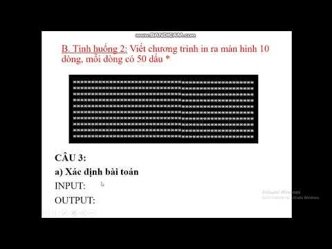 TIN 8 Bài tập thực hành 3. Sử dụng lệnh lặp For...do. Tiết 41