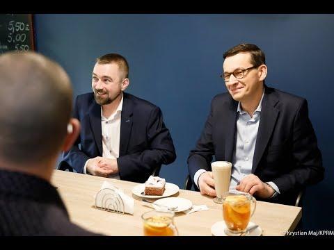 Premier Morawiecki z wizytą w cukierni Surdel