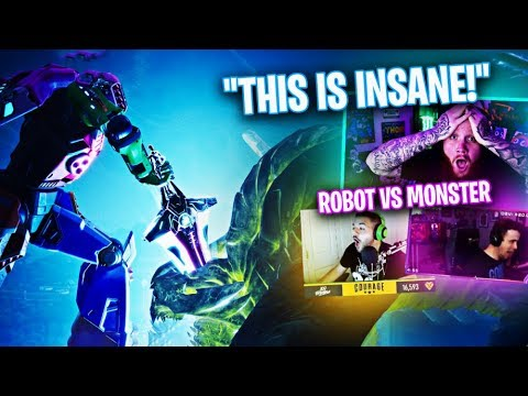 *NEW* ROBOT VS MONSTER EVENT REACTION!! FT. COURAGE, DRLUPO & JORDAN FISHER!