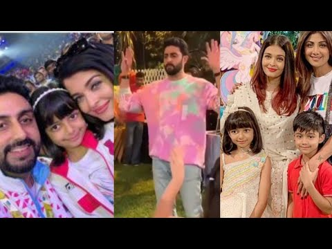 Aishwarya Rai, Abhishek Bachchan Playing With Kids