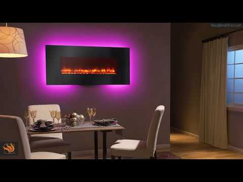 The SimpliFire Wall Mount Electric Fireplace