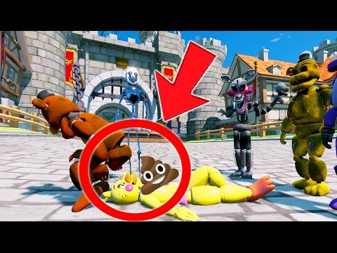 WITHERED FREDDY POOPS ON CHICA PRANK! (GTA 5 Mods For Kids FNAF) RedHatter