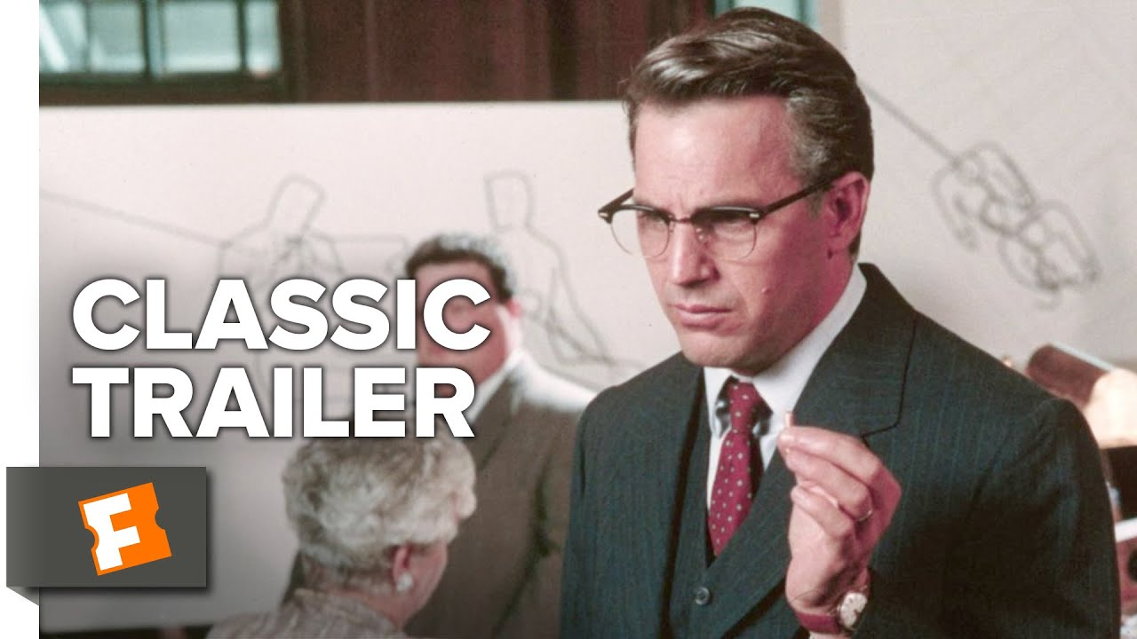 >JFK (1991) Official Trailer - Kevin Costner, Oliver Stone Thriller Movie HD