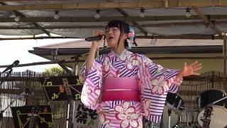 鈴木杏奈さん(中学2年生)「オキノタユウ(和楽器バンド)」2017.6.10@野木ホタル祭り