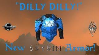 """🔴NEW! Skyrim Mod Showcase #6 """"BUD LIGHT ARMOR"""" - XBOX/PC MODS 2018"""