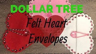 Dollar Tree Felt Heart Envelopes