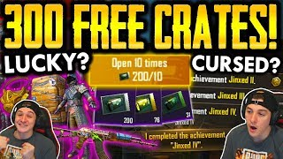 OPENING 300 FREE CRATES! INSANE LUCK OR JINXED?!