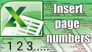 How to Insert Page Numbers in Excel while printing pages by Cool Trick