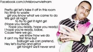 Chris Brown - Take You Down [Lyrics Video]