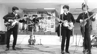 "THE BEATLES ""THREE COOL CATS/GLAD ALL OVER"" COVER by                   The Fad Four México"