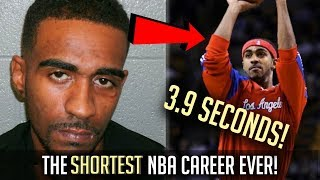 The SHORTEST NBA Career EVER!   3.9 SECONDS!