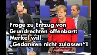 Frage an Kanzlerin Merkel zu Entzug von Grundrechten