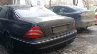 Звук выхлопа s65 amg w220 Mercedes. ))