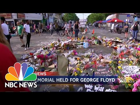 Mourners Gather To Remember George Floyd in North Carolina | NBC Nightly News