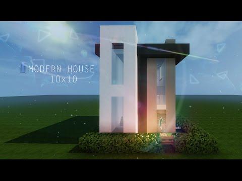 10x10 Modern House Tutorial Minecraft Project