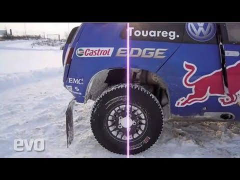 Volkswagen Race Touareg 3 in the Snow