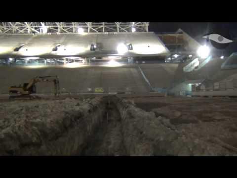 A noite na Arena Corinthians - Por dentro da obra em 25/02/2013