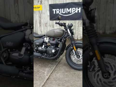 2020 Triumph Bonneville Bobber Black in Charleston, South Carolina - Video 1
