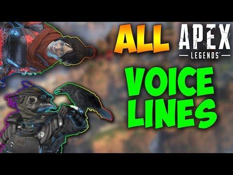 All Apex Legends Voice Lines (Apex Legends Voice Lines)