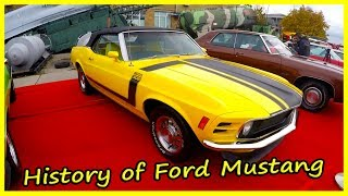 History of Ford Mustang From the 70s and 80s. Old American Cars of the 70s and 80s