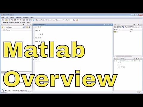 Matlab Online Tutorial - 01 - The User Interface, Part 1