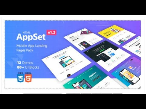 AppSet - App Landing Pages Pack | Themeforest Templates