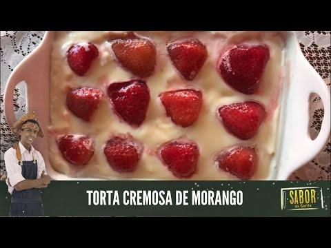 [Sabor da Gente exibido em 26/01/2021] Torta Cremosa de Morango, com o chef Rivandro França