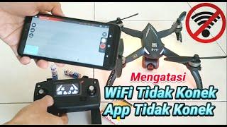 Mengatasi Drone tidak konek WiFi dan Tidak konek Aplikasi di MJX BUGS 5W 4K