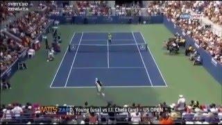 Топ 10 самых интересных моментов в теннисе! Tennis Top 10 Hot Shots!