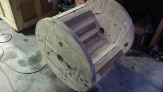 Turning A Cable Spool Into A Rocking Chair!