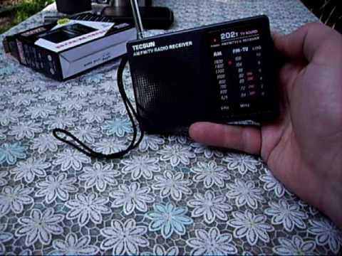 DC 3V-6V Tecsun Mini Portable Radio R-202t FM/AM 64-108MHz World Band Receiver