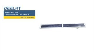 Solar Street Light - 10000 Lumens LED - with Remote SKU #D1151531