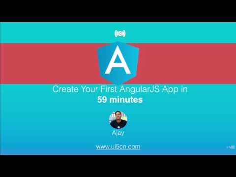 AngularJS App in 59 min From Scratch (2017 - 2018)